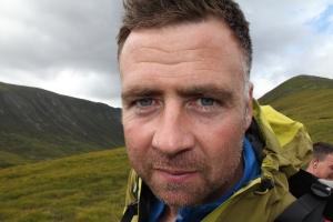 Ian nearing Ben MacDui