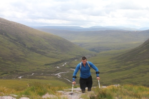 Nick on his way to Ben MacDui