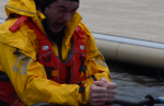 """""""Brain freeze"""" after practising capsizes in the double sea kayaks in Llanberis lake."""