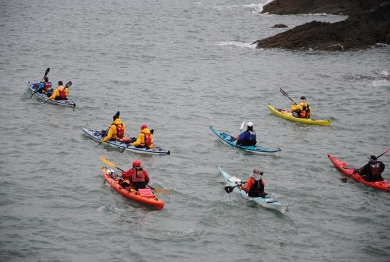 The kayak send-off