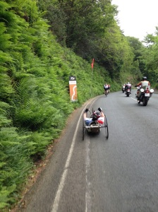Beeline Team negotiating the TT Course on Mad Sunday