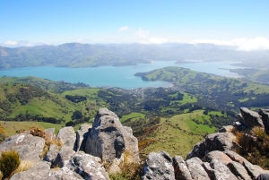 View from summit of Stony Bay Peak, New Zealand - credit Tori James